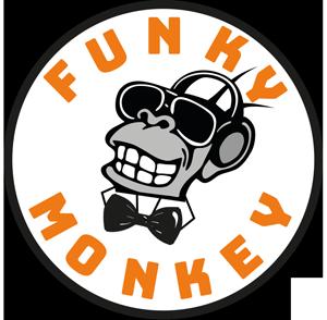 funky monkey bar mit gästen am feiern